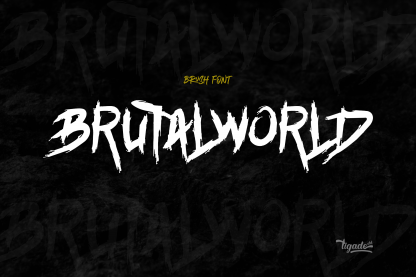 Brutalworld Brush Font