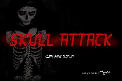 Skull Attack Scary Font